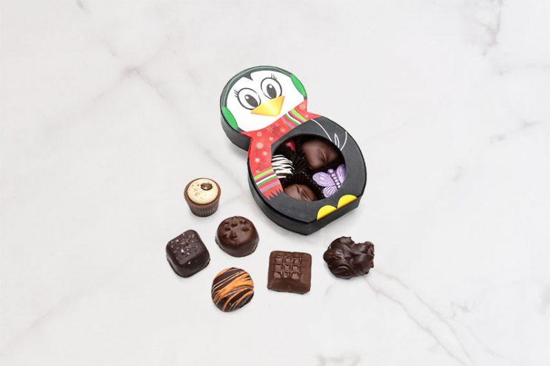 7 Piece Assorted Chocolate Penguin Box