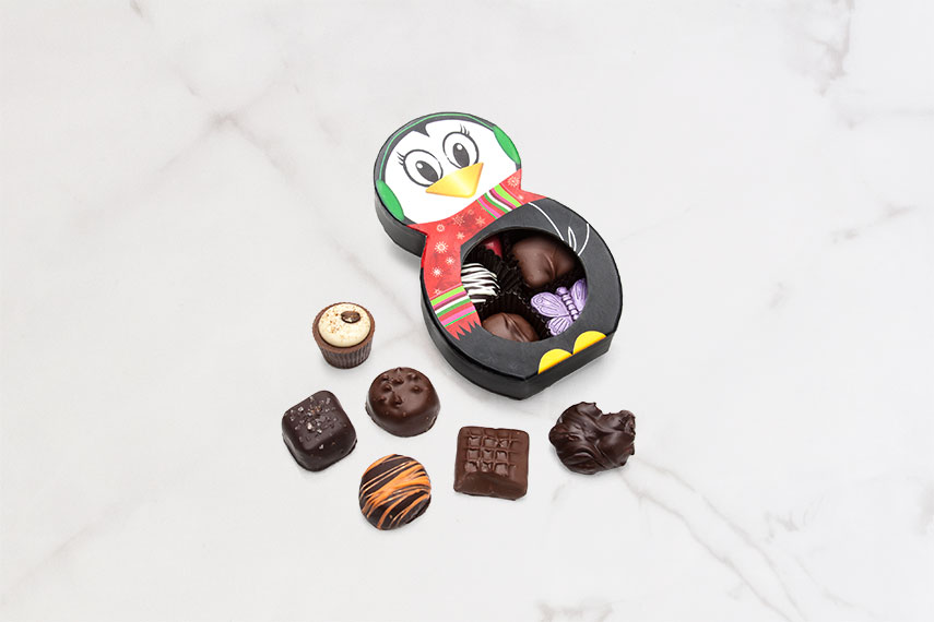 7 Piece Assorted Chocolate Penguin Box