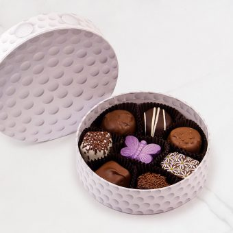 golf ball chocolate box