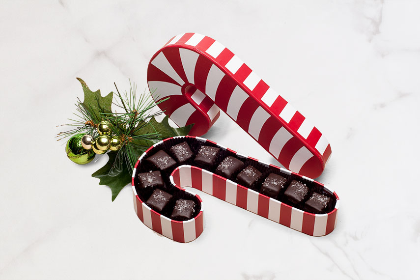 9 Piece Dark Chocolate Candy Cane box