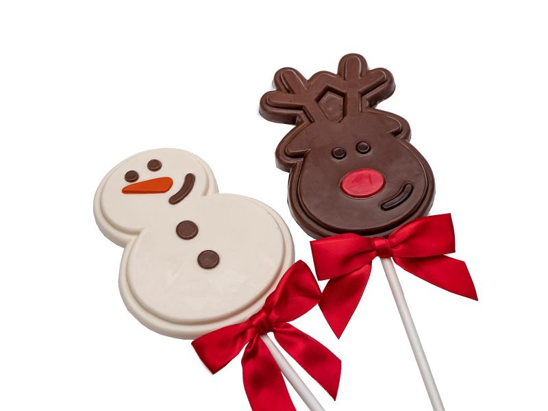 White or Milk chocolate christmas pops