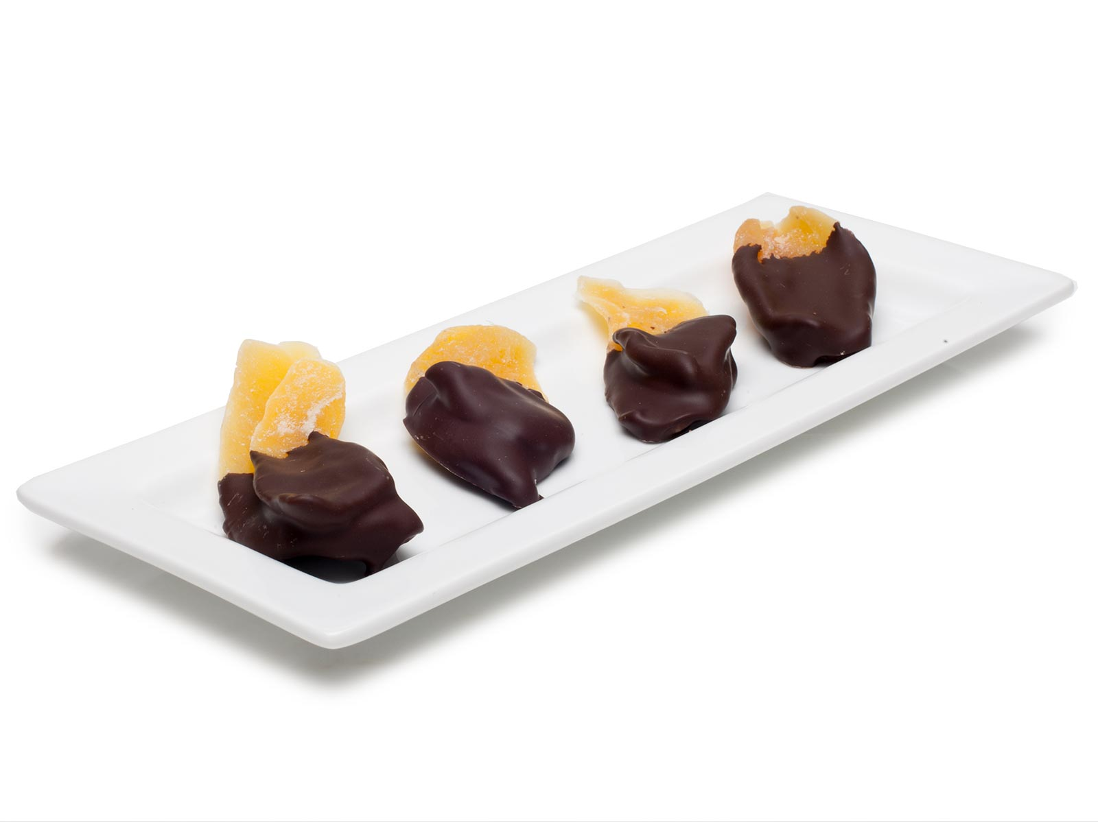 chocolate dipped mango slices