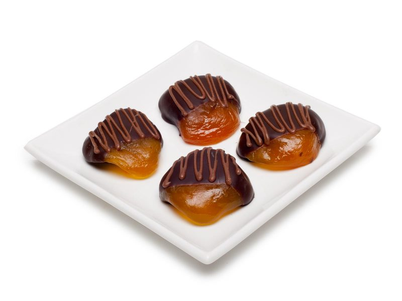 chocolate covered peaches