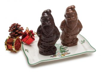 Semi-Solid Milk and Dark Chocolate Santas 3