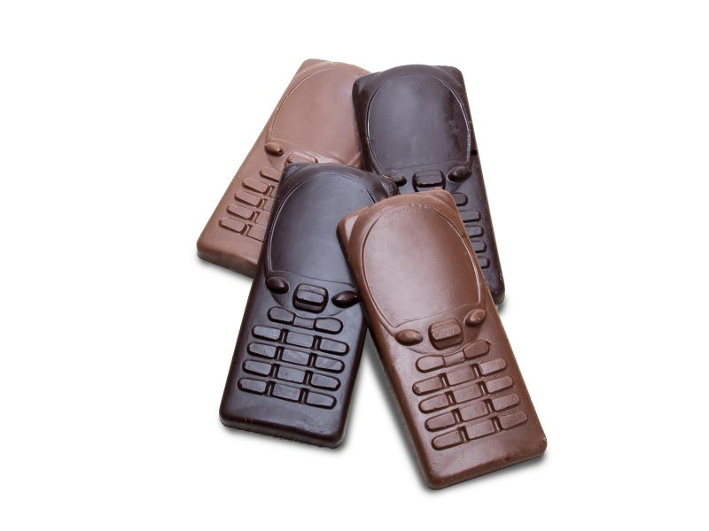 Solid Milk and Dark Chocolate Cell Phones