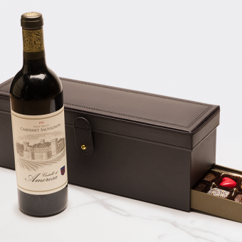 Wine and Brown Leater Box